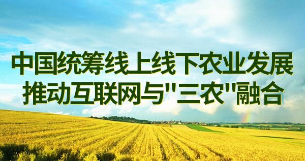 中国统筹线上线下农业发展 推动互联网与